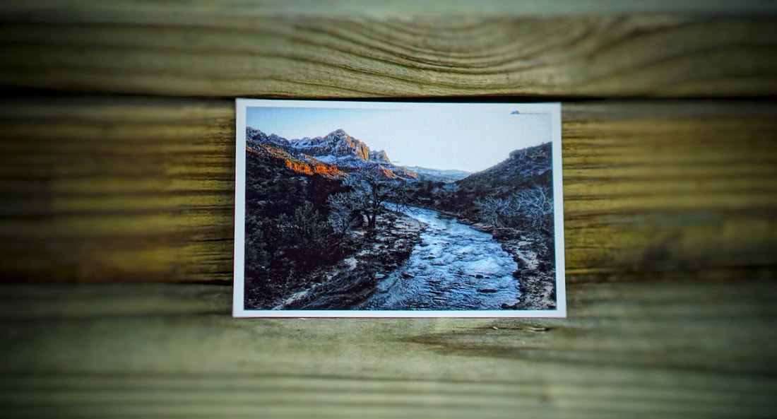 Zion National Park Bourn Adventure postcard
